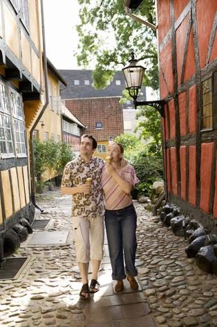 Stel op vakantie in Kolding, Oost-Jutland, Denemarken