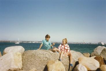 Marlous en Joop Lub aan de kust bij Kopenhagen