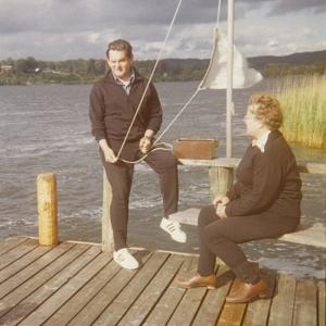Oprichters Joop en Martha Drenth in het merengebied nabij Silkeborg