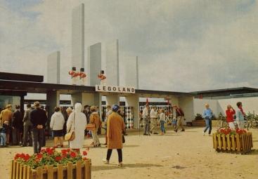 1968 hoofdingang LEGOLAND Billund, Denemarken