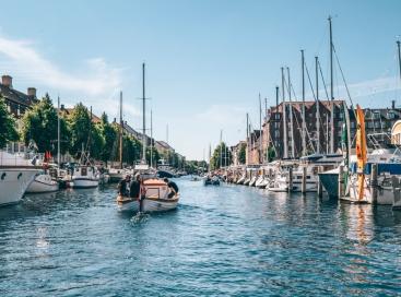 Christianshavn in Kopenhagen, Denemarken