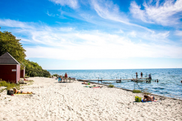 Nysted Camping op de Oos-Deense eilanden Lolland-Falster in Denemarken