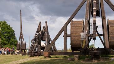 Middelaldercentret op Lolland (Oost-Deense eilanden) in Denemarken
