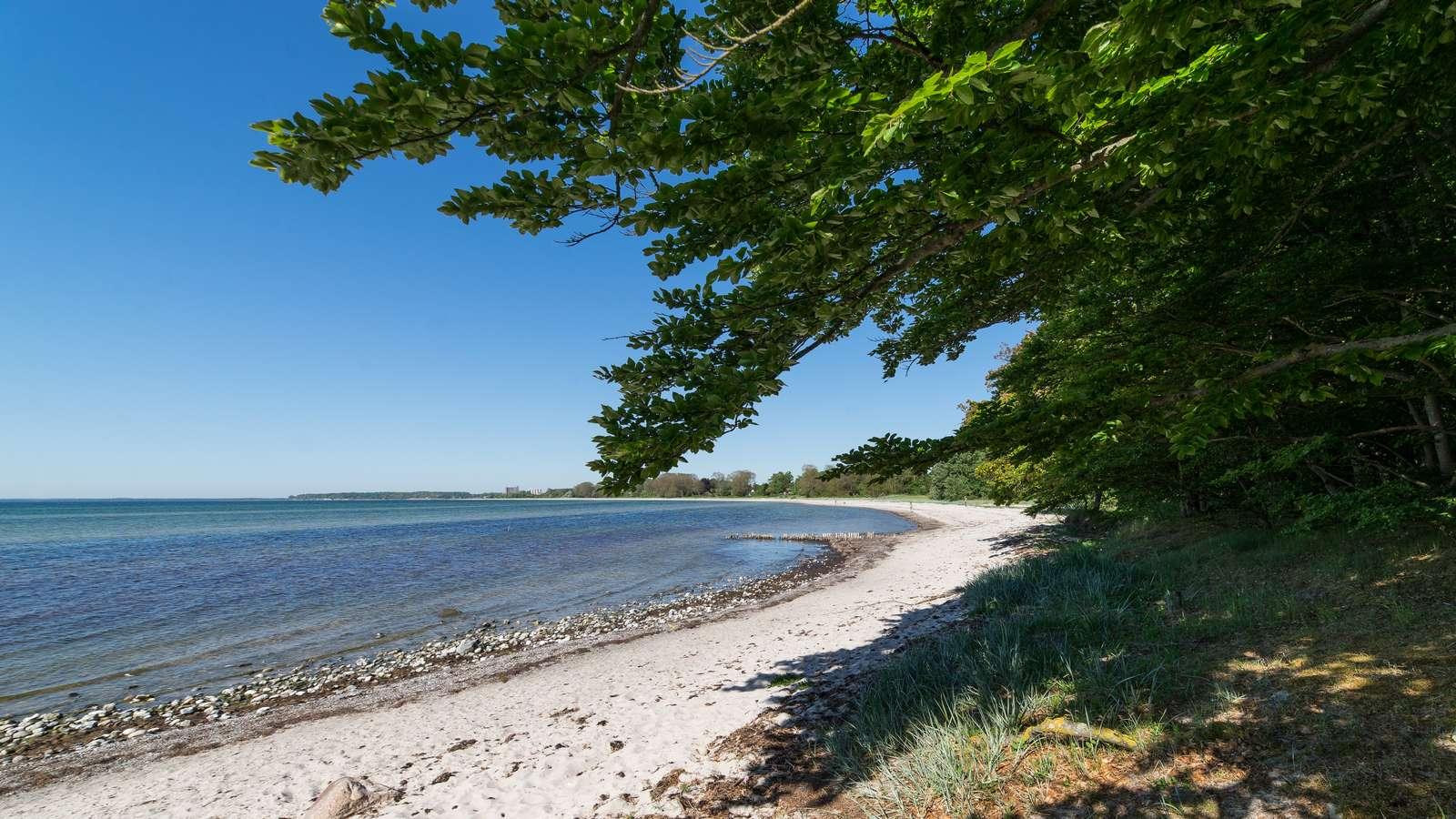 Stranden van de Oost-Deense eilanden