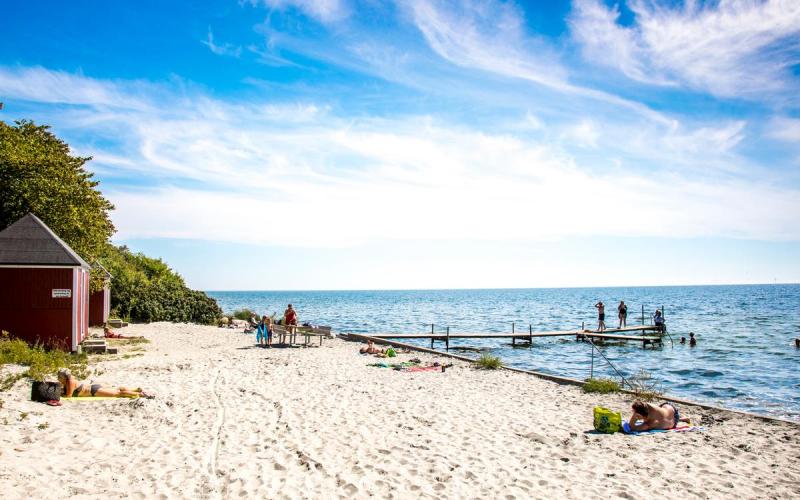 Nysted Strand in Denemarken