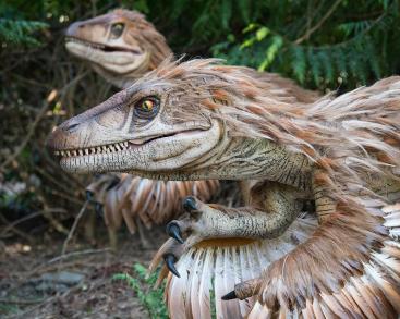 Dino's op de Oost-Deense eilanden. Foto: Knuthenborg Safaripark