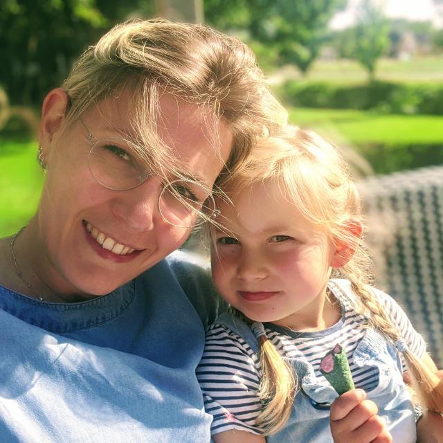Marlous Lub met dochter Louise