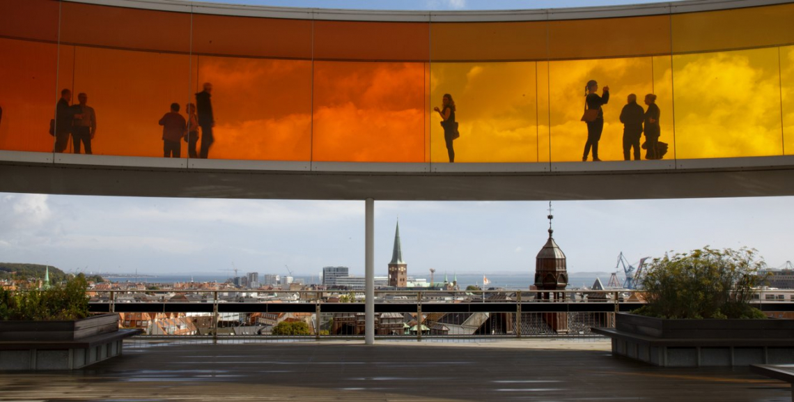 Your rainbow panorama, Olafur Eliasson,  ARoS Aarhus Art Museum. Foto: VisitDenmark Kim Wyon.